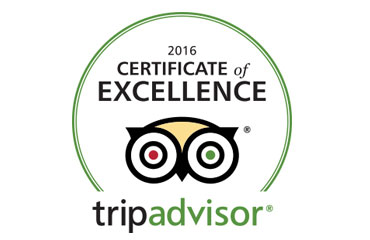 Trip Advisor logo - 2016 Certificate of Excellence