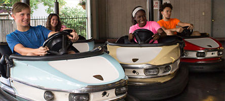 Photo of people riding the Bumper Cars