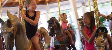 Children riding the Carousel Ride