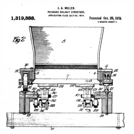 Patent Drawing of Miller Coaster Car