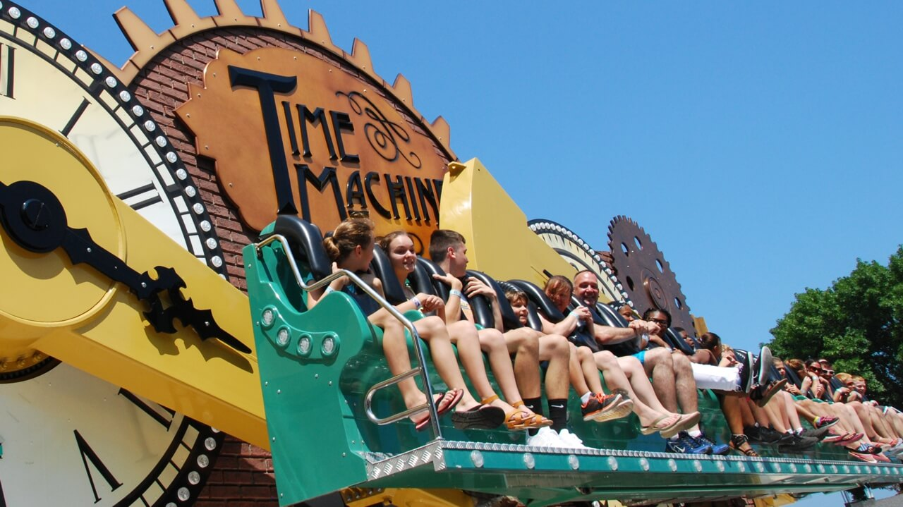The Time Machine ride with passengers